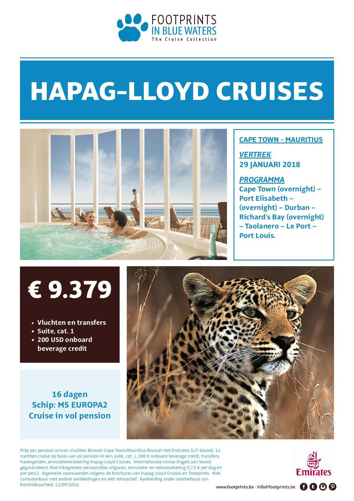 Cruise: Cape Town - Mauritius