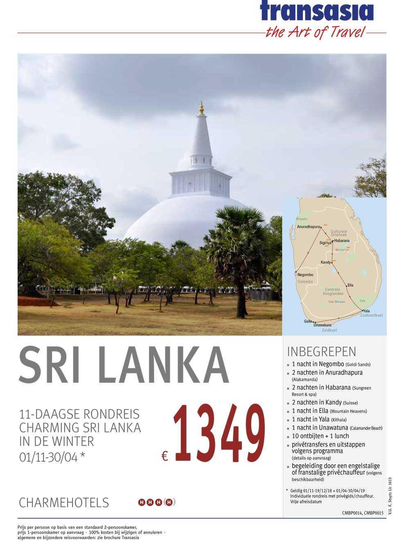 11 daagse rondreis Sri Lanka