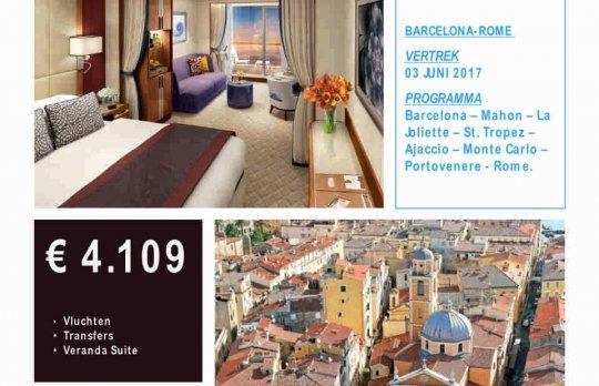 Cruise Barcelona - Rome