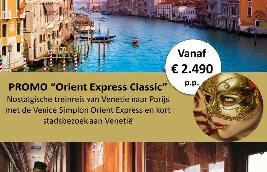 """Promo """"Orient Express Classic"""" Brussel - Ventië"""